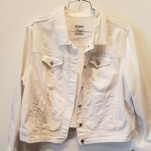 Old Navy White Denim Jacket, XXL